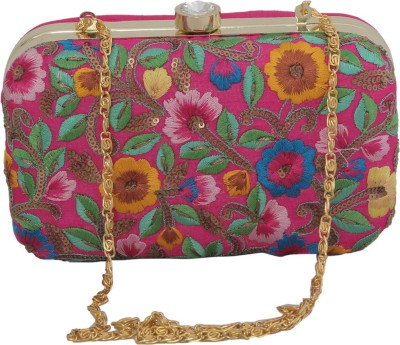 Advika Party Pink  Clutch