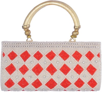 Toral Wedding, Casual, Party, Festive White  Clutch