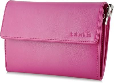Butterflies Women Casual Pink  Clutch