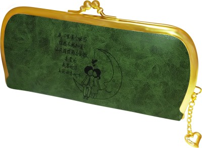 A To Z Creations Women, Girls Casual, Party Green  Clutch