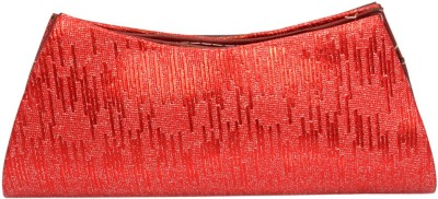Vendee Fashion Party Red, Silver  Clutch