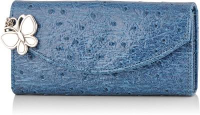 Butterflies Casual Blue  Clutch