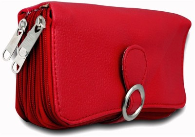 Magiq Women Casual Red Artificial Leather Wallet