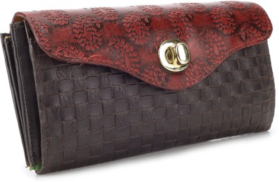 Holii Women Casual Brown, Red  Clutch