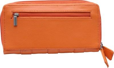 Monami Lifestyle Women Casual Orange  Clutch
