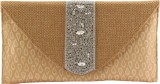 Heaven Deal Women Wedding Beige  Clutch