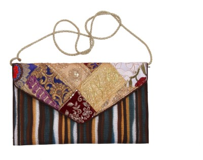 Gutthi Festive, Casual, Party, Wedding Brown  Clutch