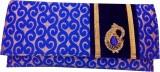 Hand Craft Women Blue  Clutch