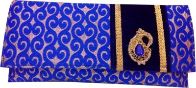 HAND CRAFT Blue  Clutch