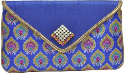 Women Trendz Women Casual Blue  Clutch