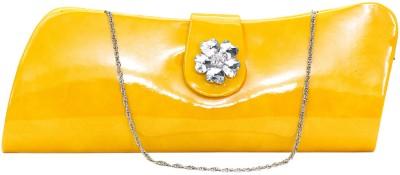 VERMELLO Women Casual Yellow  Clutch