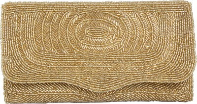 Merci Women Party Gold  Clutch