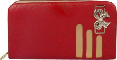 Polki Red, Gold  Clutch