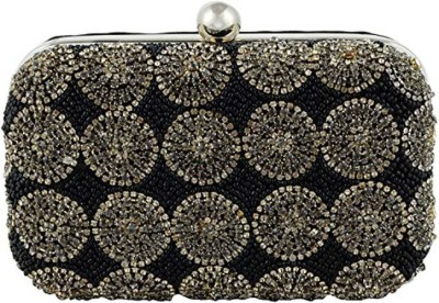 DUCHESS Casual, Party Black, Silver  Clutch