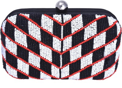 Posh Girls Party Black, Red, White  Clutch