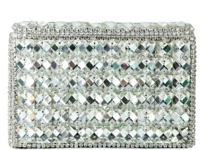 Sadaf Silver  Clutch