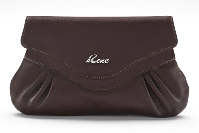 Rene Party Brown  Clutch