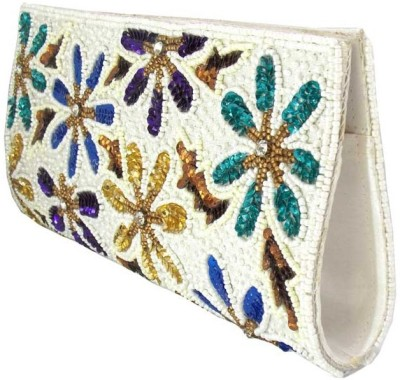 Himalaya Handicraft Women Formal White  Clutch