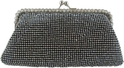 Indostyle Women Party Black  Clutch