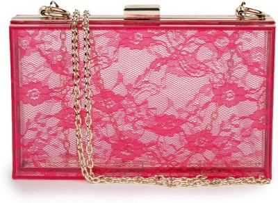 Amatra Girls, Women Casual, Party, Festive Red, Pink  Clutch