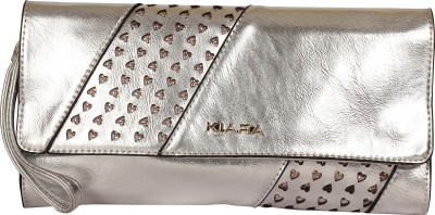 Kiara Women Casual Silver  Clutch