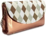Spice Art Women Gold, Beige  Clutch