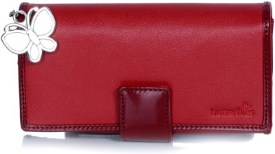 Butterflies Women Casual, Evening/Party Red Artificial Leather Wallet
