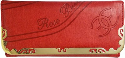 Rose Bird Party, Casual Red  Clutch