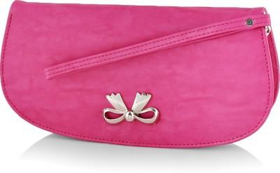 Butterflies Casual Pink  Clutch