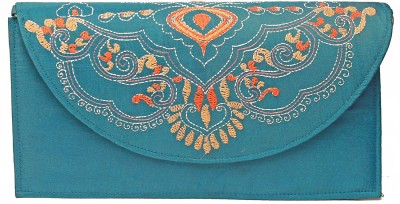 Slice Of Bengal Women Casual Blue  Clutch