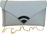 Bhamini Women Casual White  Clutch