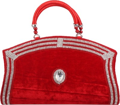 Alishaan Wedding, Casual, Party, Festive Red  Clutch