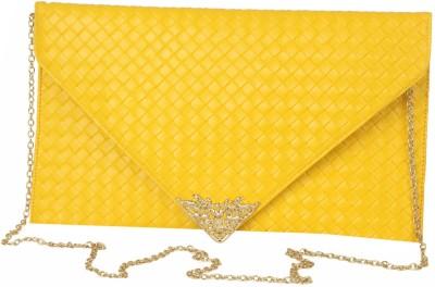 Just Women Women Casual Yellow  Clutch