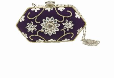 Peaubella Women Wedding Purple  Clutch