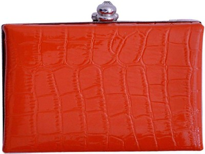 Glitter Accessories Casual, Party, Formal Orange  Clutch