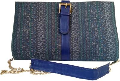 Shor Sharaba Women Casual Blue  Clutch
