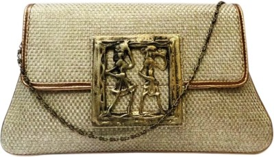 Bhamini Women Festive Gold  Clutch