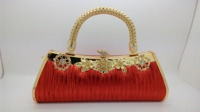 Puskar Raj Party, Wedding Red, Gold  Clutch