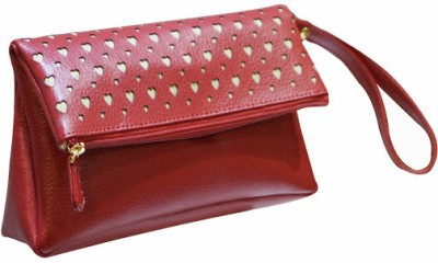 Jeane Sophie Women Casual, Party Red  Clutch