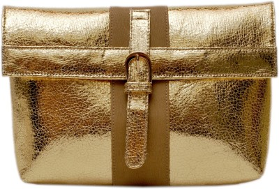 SG Collection Women Party Gold  Clutch