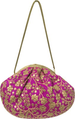 Desire Casual, Festive, Formal, Wedding, Party Pink  Clutch