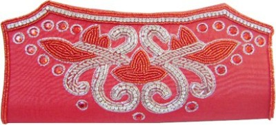 Himalaya Handicraft Party Red  Clutch