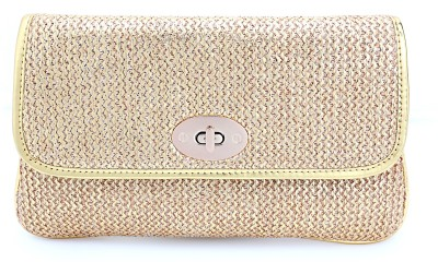 Elligator Women Party Beige  Clutch
