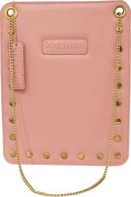 Kethini Women Casual Pink  Clutch
