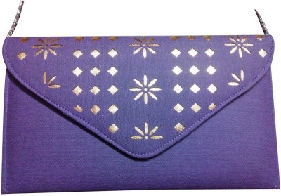 Linzina Blue, Gold  Clutch