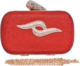 Eleegance Women Party Red  Clutch