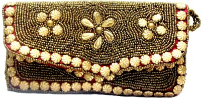 Sunita Fashion Casual, Festive Gold  Clutch