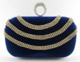 Indostyle Women Party Blue  Clutch