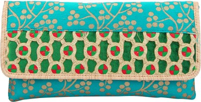 The Peacock Craft Party Green  Clutch