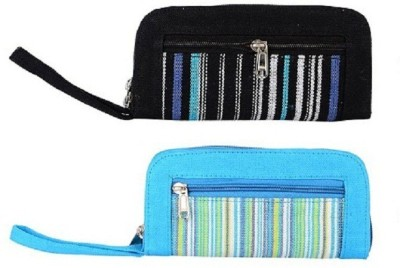 AFW Casual Black, Blue  Clutch